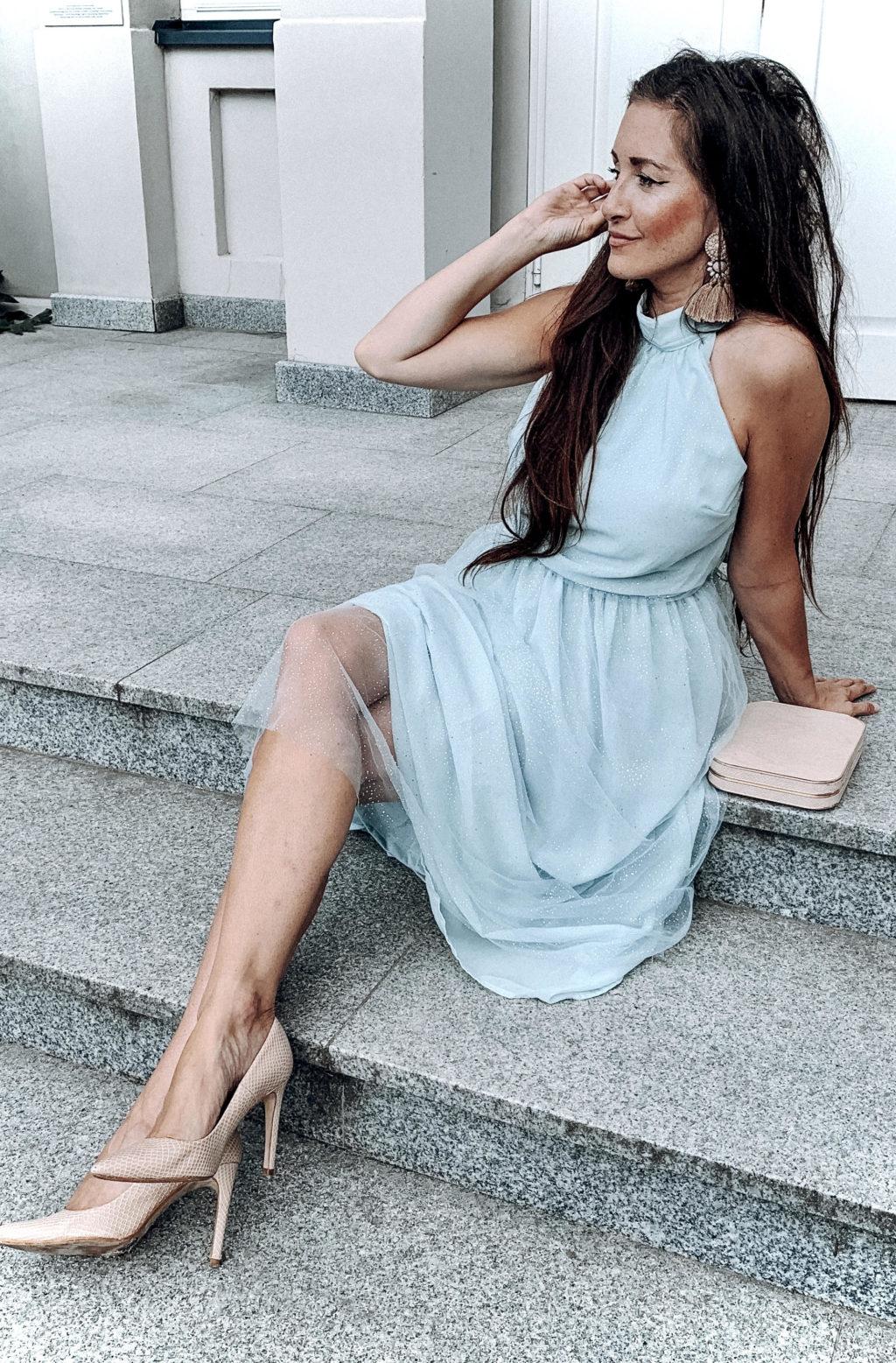 sukienka z lidla miętowa