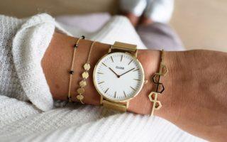 złoty zegarek cluse