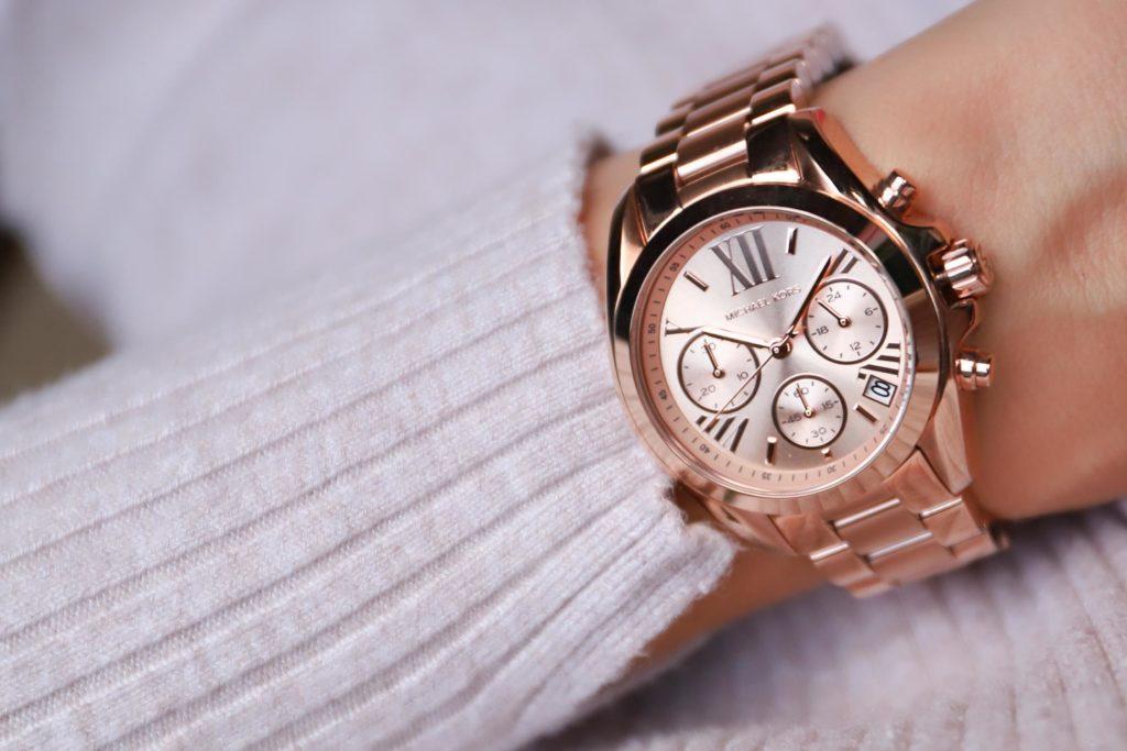 złoty zegarek michael kors bradshaw