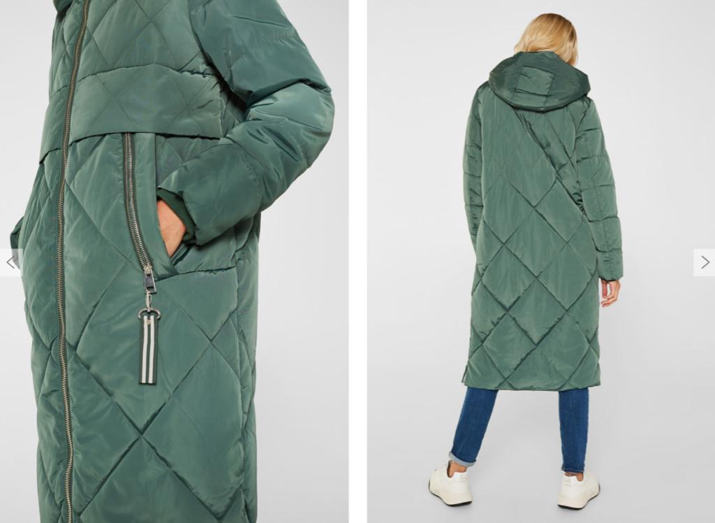zielony płaszcz esprit