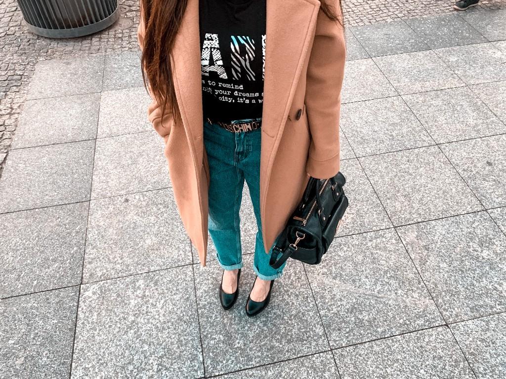 karmelowy płaszcz sklep