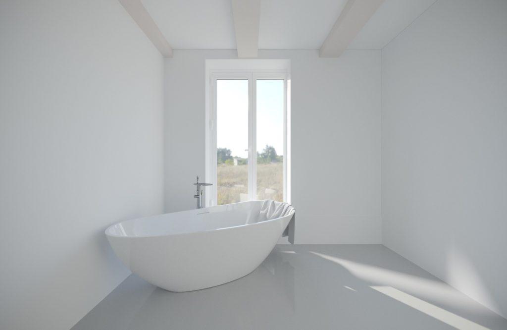 łazienka stary dom drewniany po remoncie