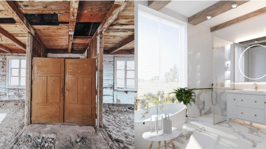 stary dom drewniany metamorfoza