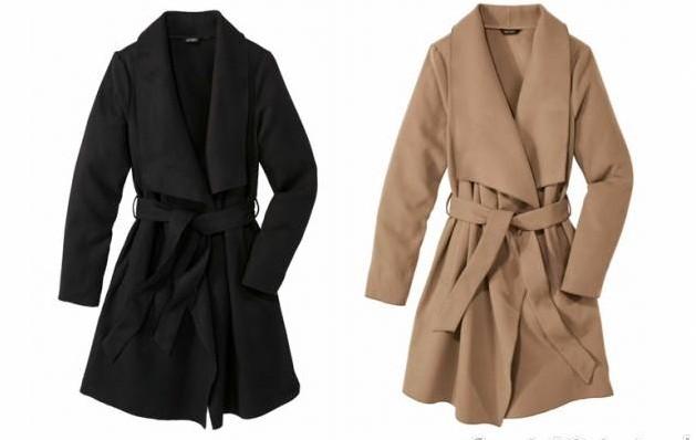 płaszcz z lidla brązowy