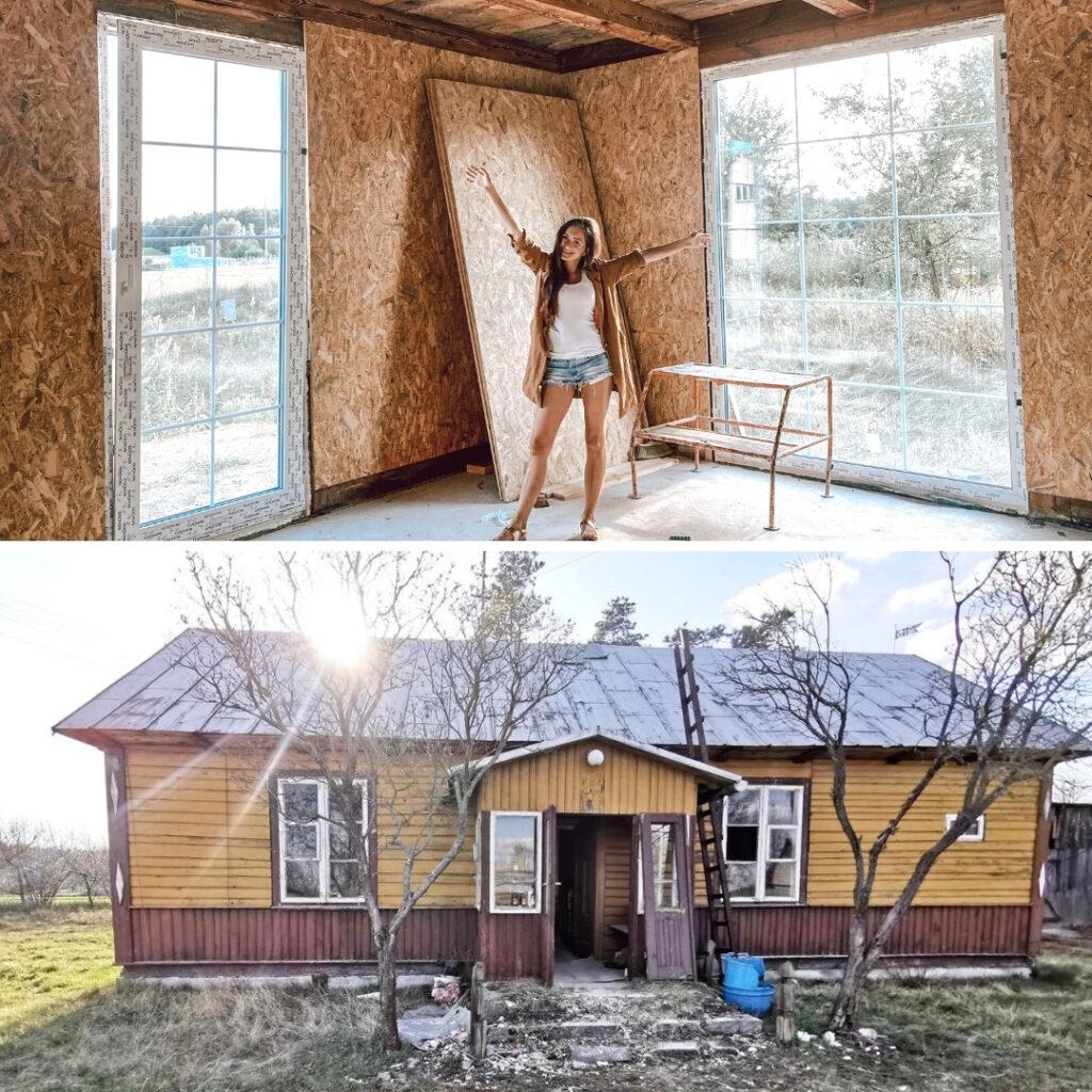 remont drewnianej chaty na wsi metamorfoza