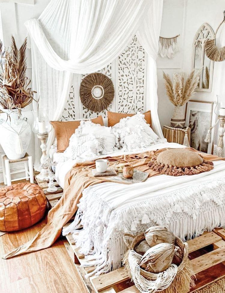 sypialnia boho