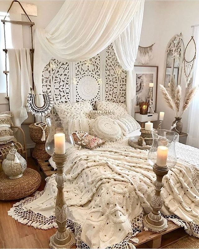 urządzanie sypialni w stylu boho