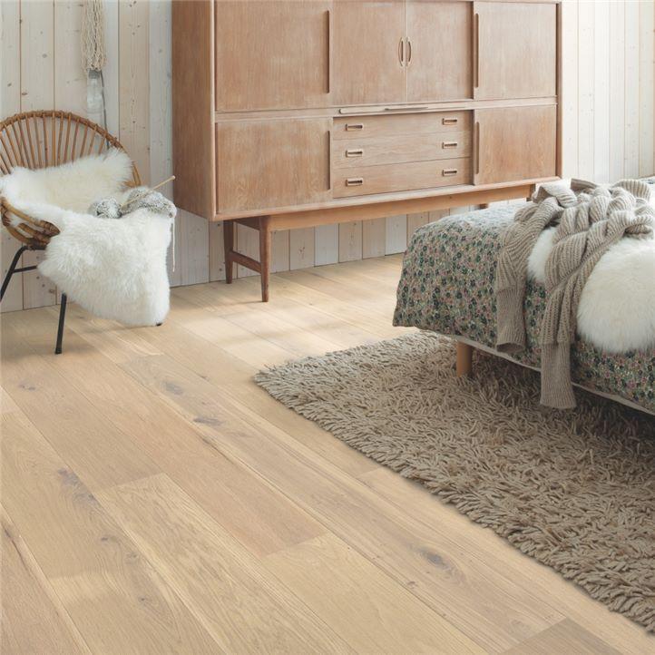 drewniana podłoga quick step Biały dąb owsiany, olejowany