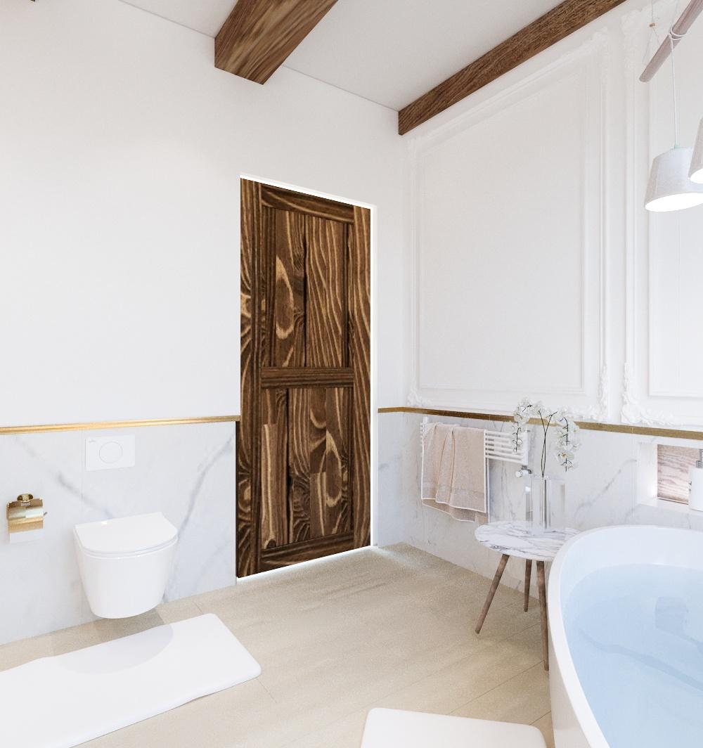 drzwi barn door w łazience