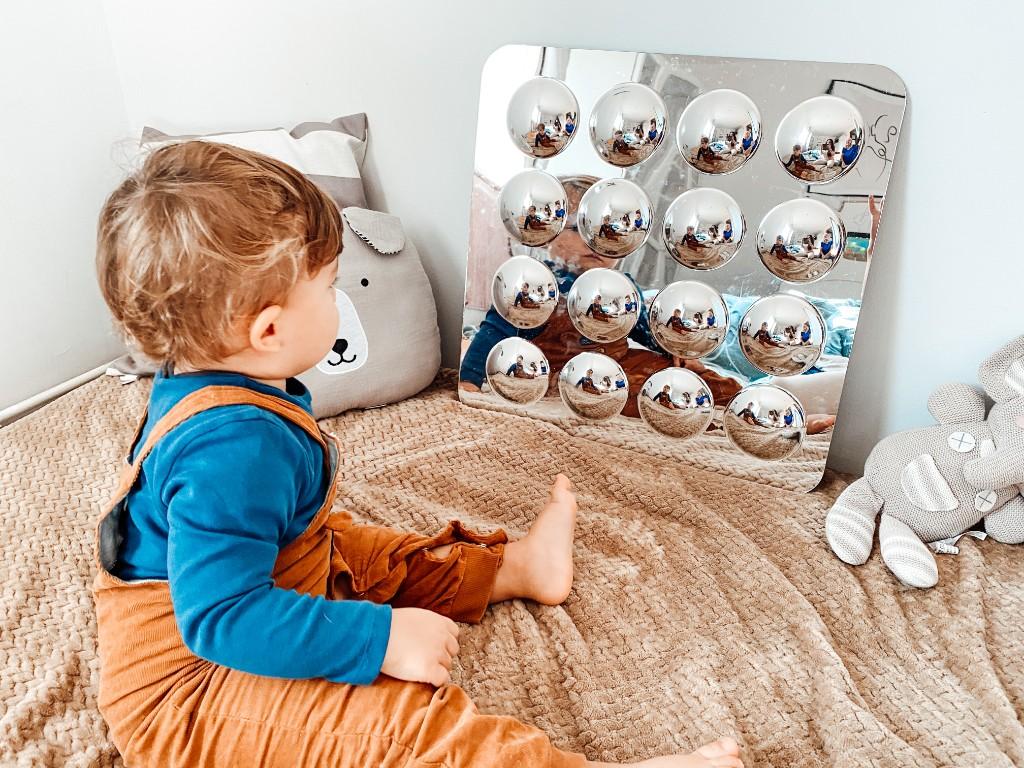 lustro bańkowe zabawka sensoryczna