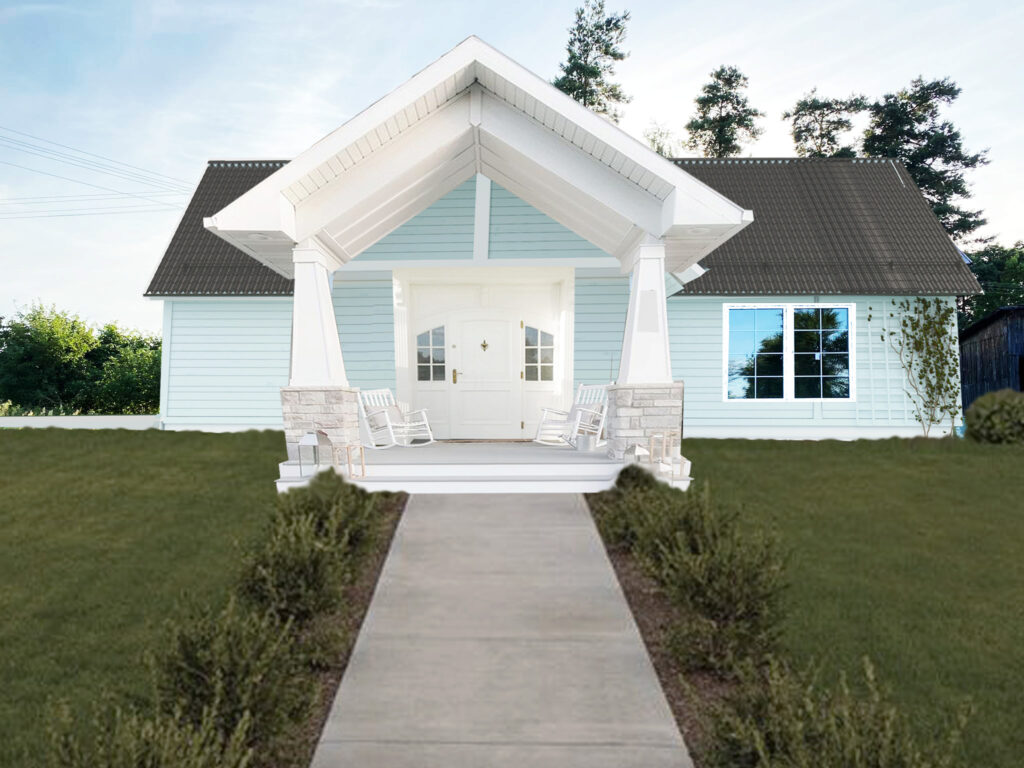 metamorfoza drewnianego domu wiejskiego