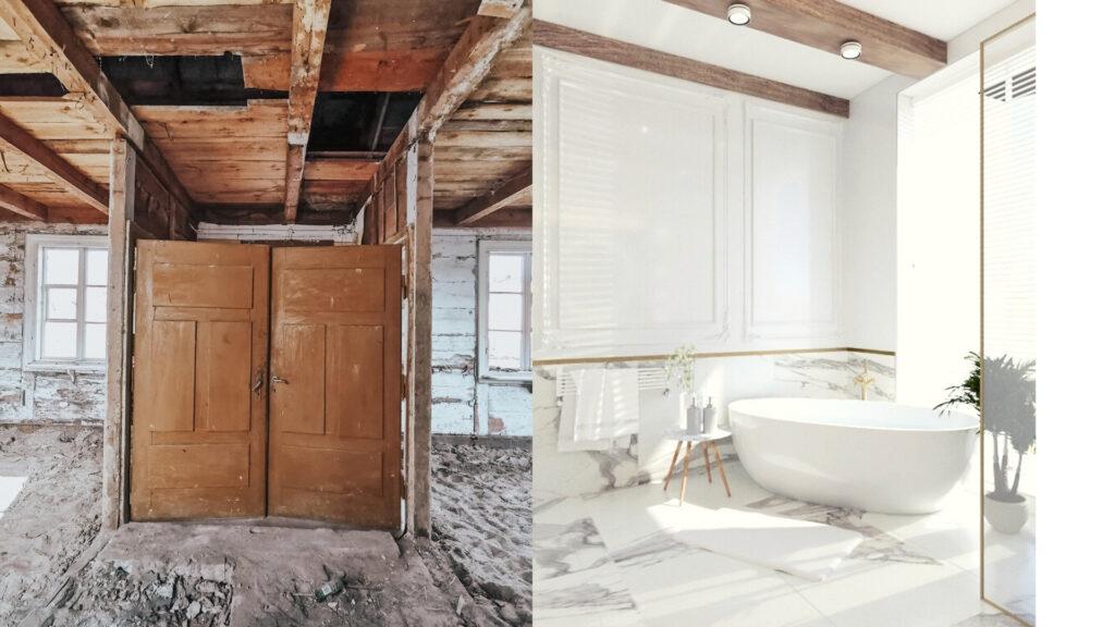 metamorfoza starego domu łazienka