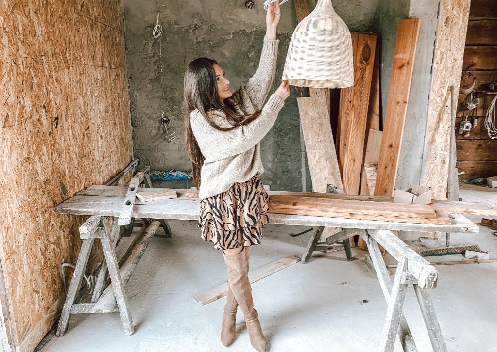 wiklinowe lampy aranżacje