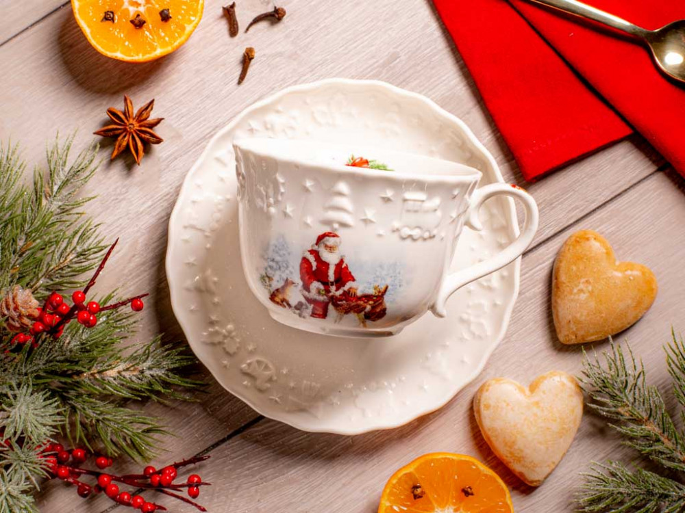 filiżanka świąteczna porcelanowa