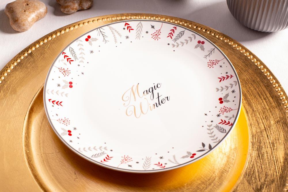 talerze deserowy świąteczny