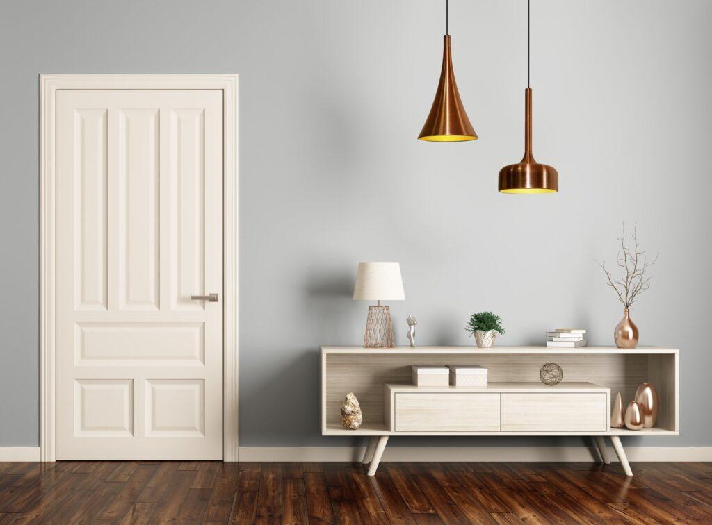 lampa ze złotem salon