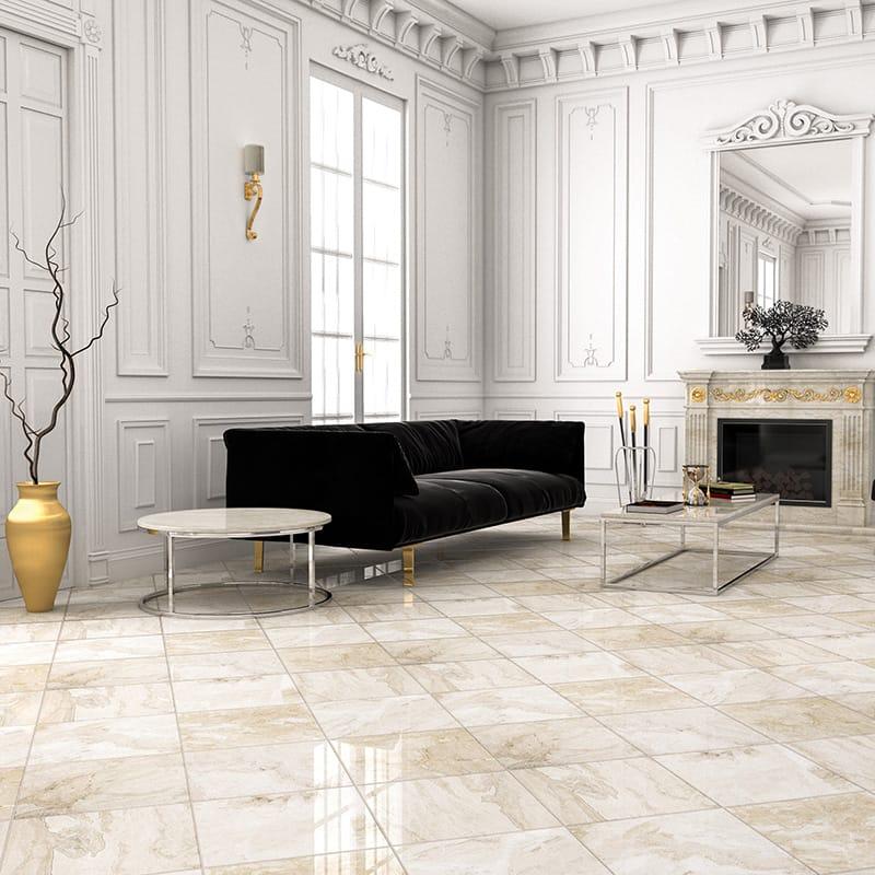 płytki podłogowe salon