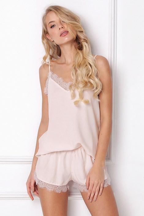 różowa piżama boho