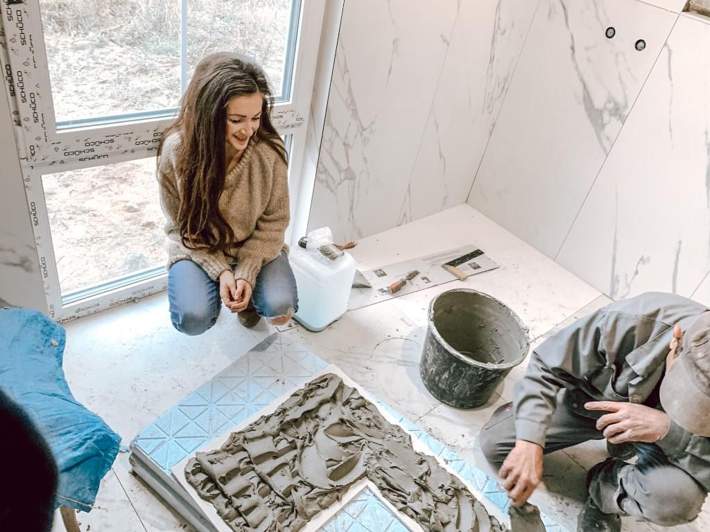 remont łazienki klej do płytek