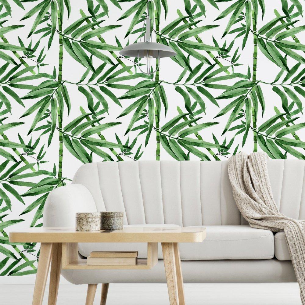 roślinna tapeta na ścianę