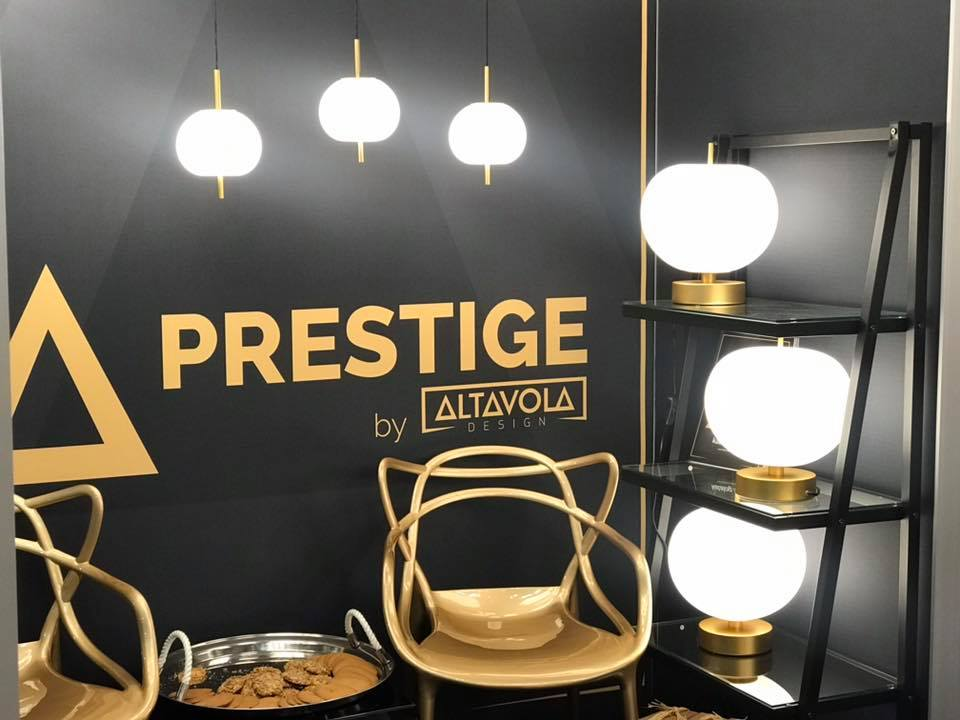 złote lampy altavola design