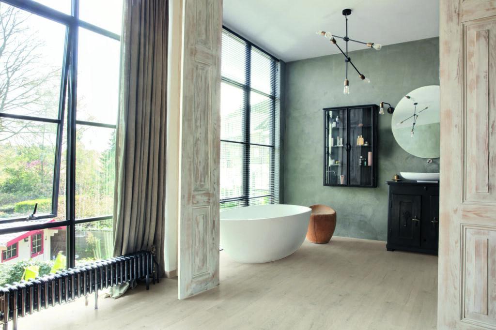laminowana podłoga do łazienki