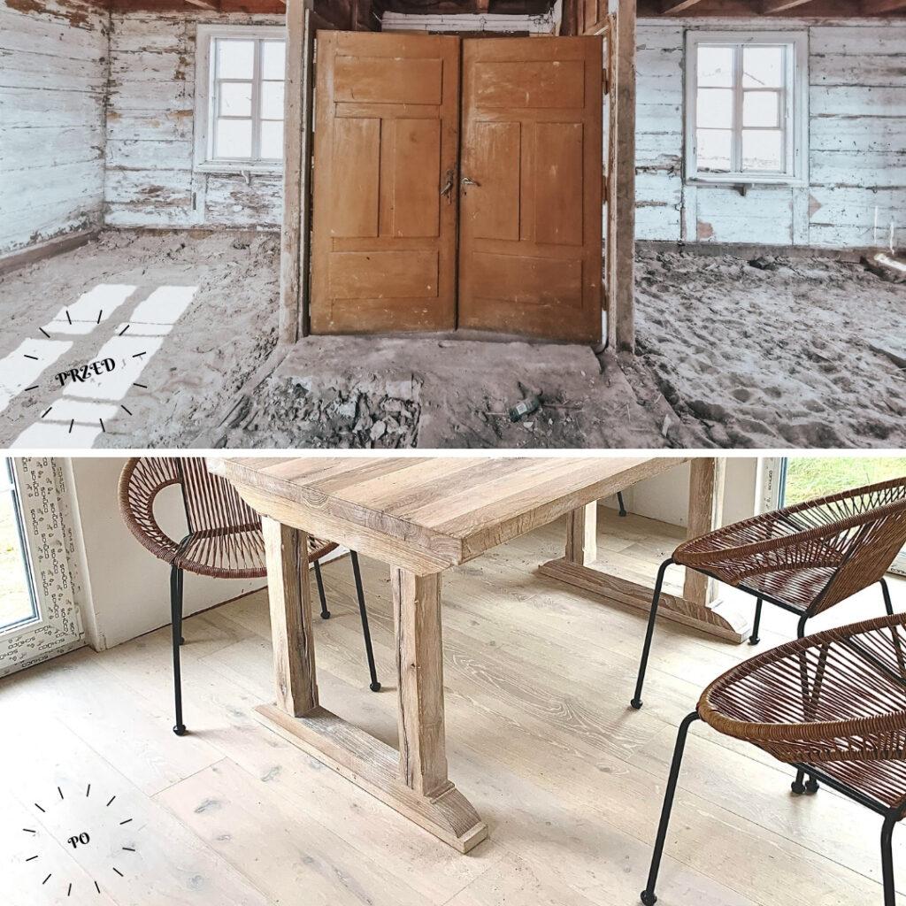 metamorfoza domu podłoga