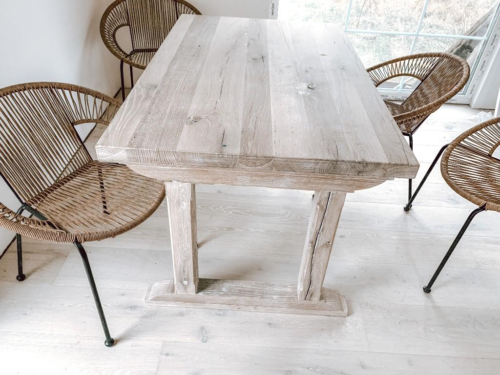stół rustykalny debowy