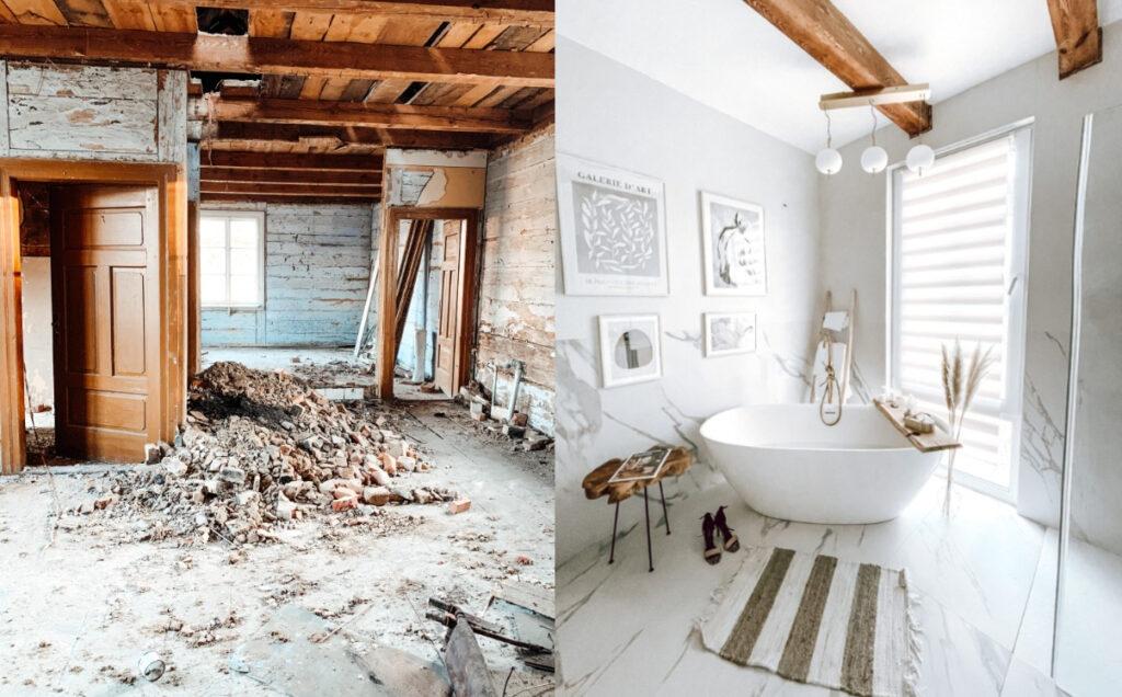 metamorfoza łazienki stary dom