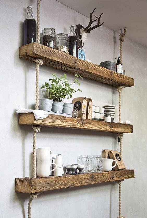 półka drewniana diy