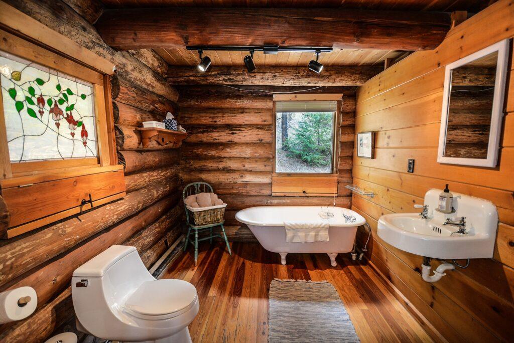 łazienka drewniana