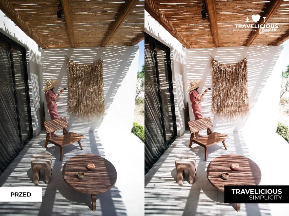filtr z lightroom przed i po