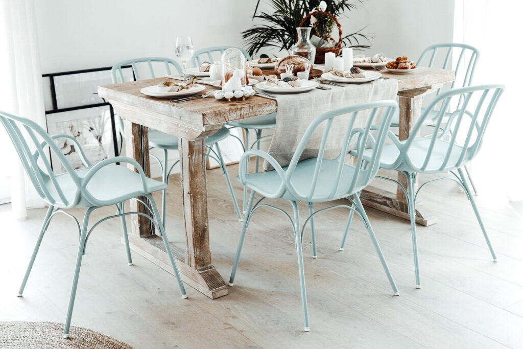 krzesła baby blue