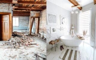 metamorfoza łazienki dom na wsi