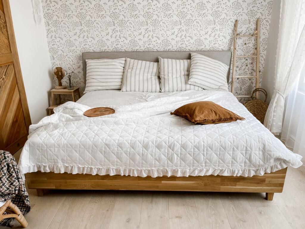 łóżko dębowe 200 200