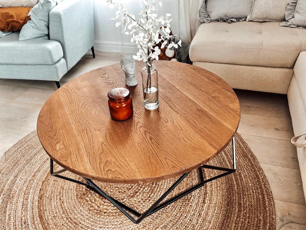 stolik drewniany blat loft